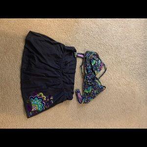 Swim skirt and top